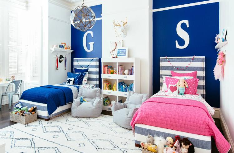 habitaciones compartidas para niños y niñas, mixtas, como pintar cuarto, mellizos, hijos.