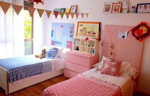 cuartos para niñas, habitación, mixtas, dos niños, compartido, mellizos, gemelos, bebes.