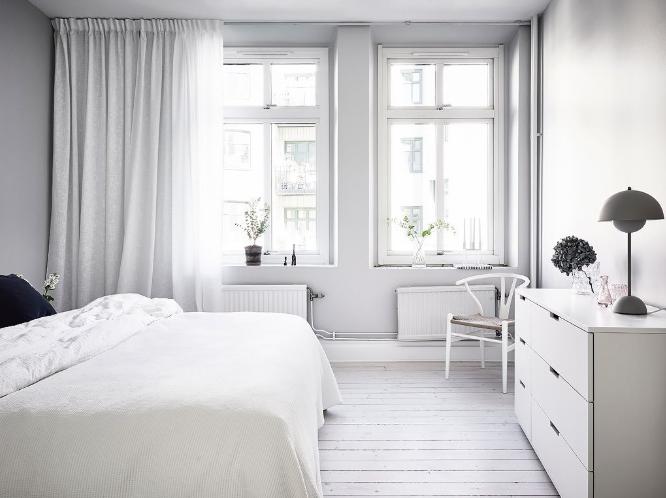 diseño nórdico minimalista en las habitaciones, simple y sencillo