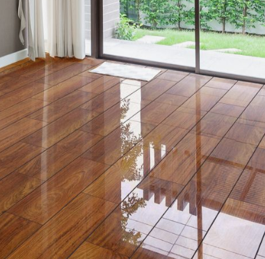 piso en madera laminada para sala y comedor