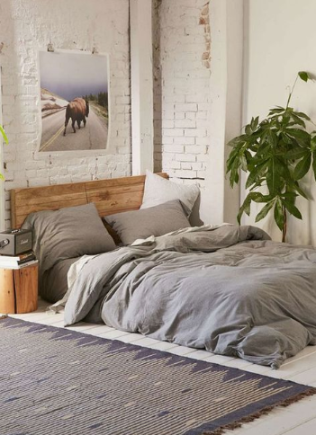 Textiles escandinavos, scandy plumas, en cuartos o dormitorios