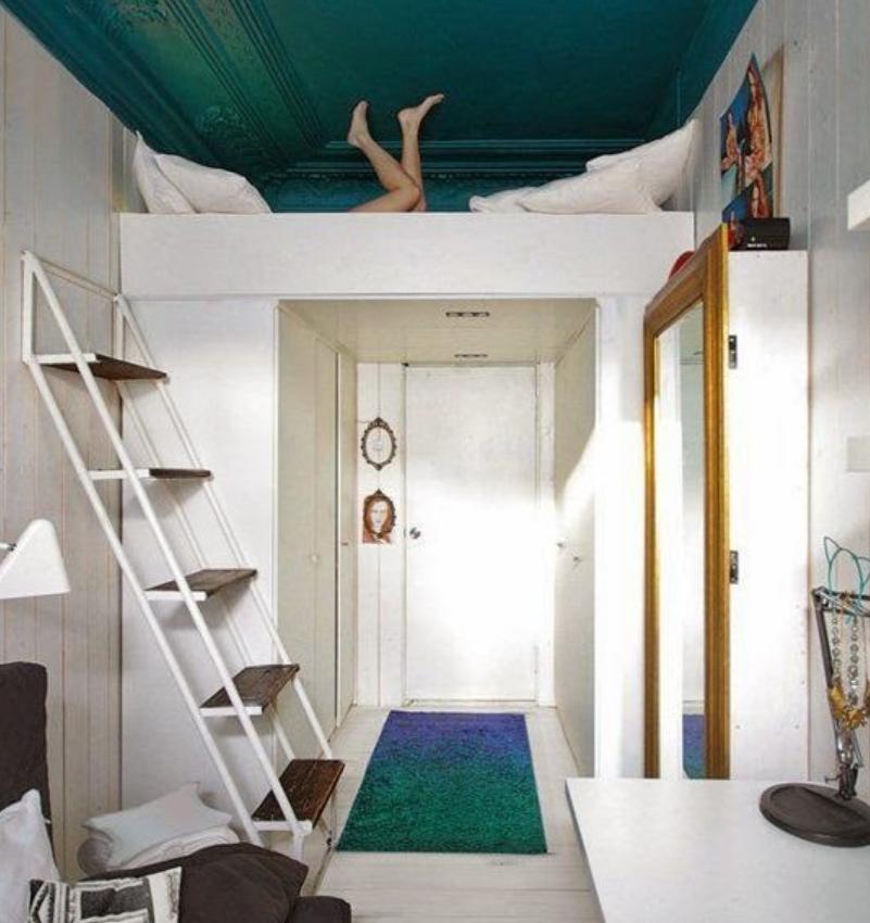 Decoración de interiores dormitorios pequeños y modernos